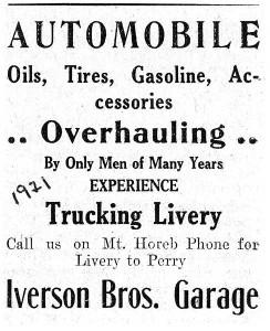 Daleville Garage Ad 1921