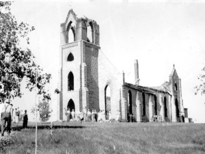 Perry Lutheran After Fire 1935